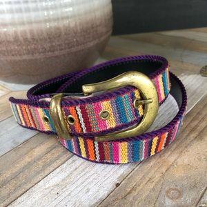 Vintage Colorful Embroidered Belt